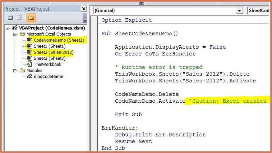 Get Current Sheet Name In Excel Vba