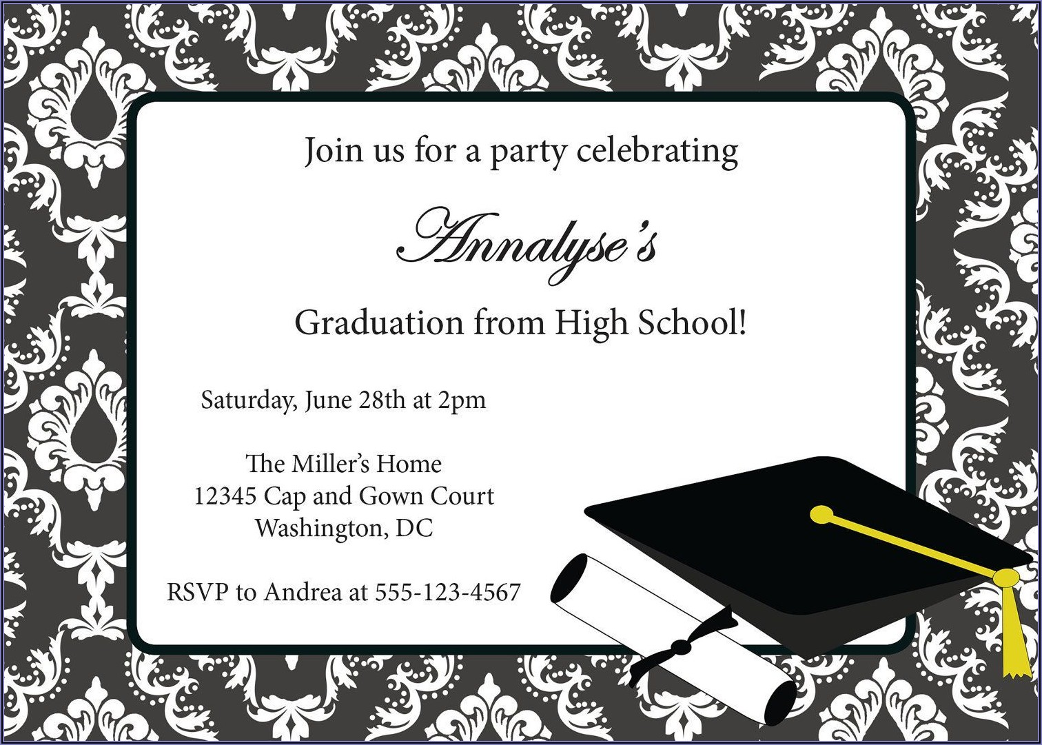 Graduation Ceremony Invite Wording