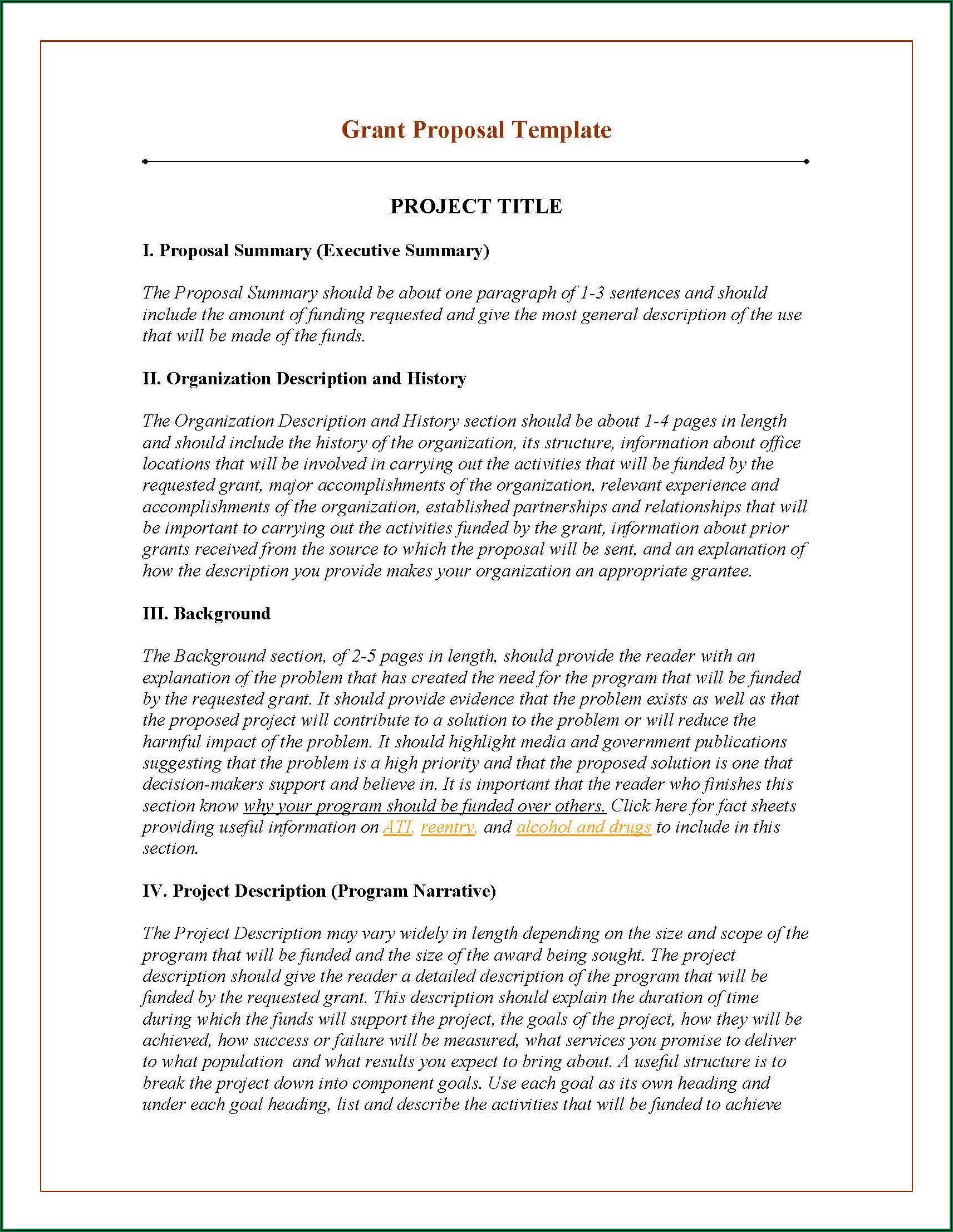 Grant Proposal Writing Sample Pdf