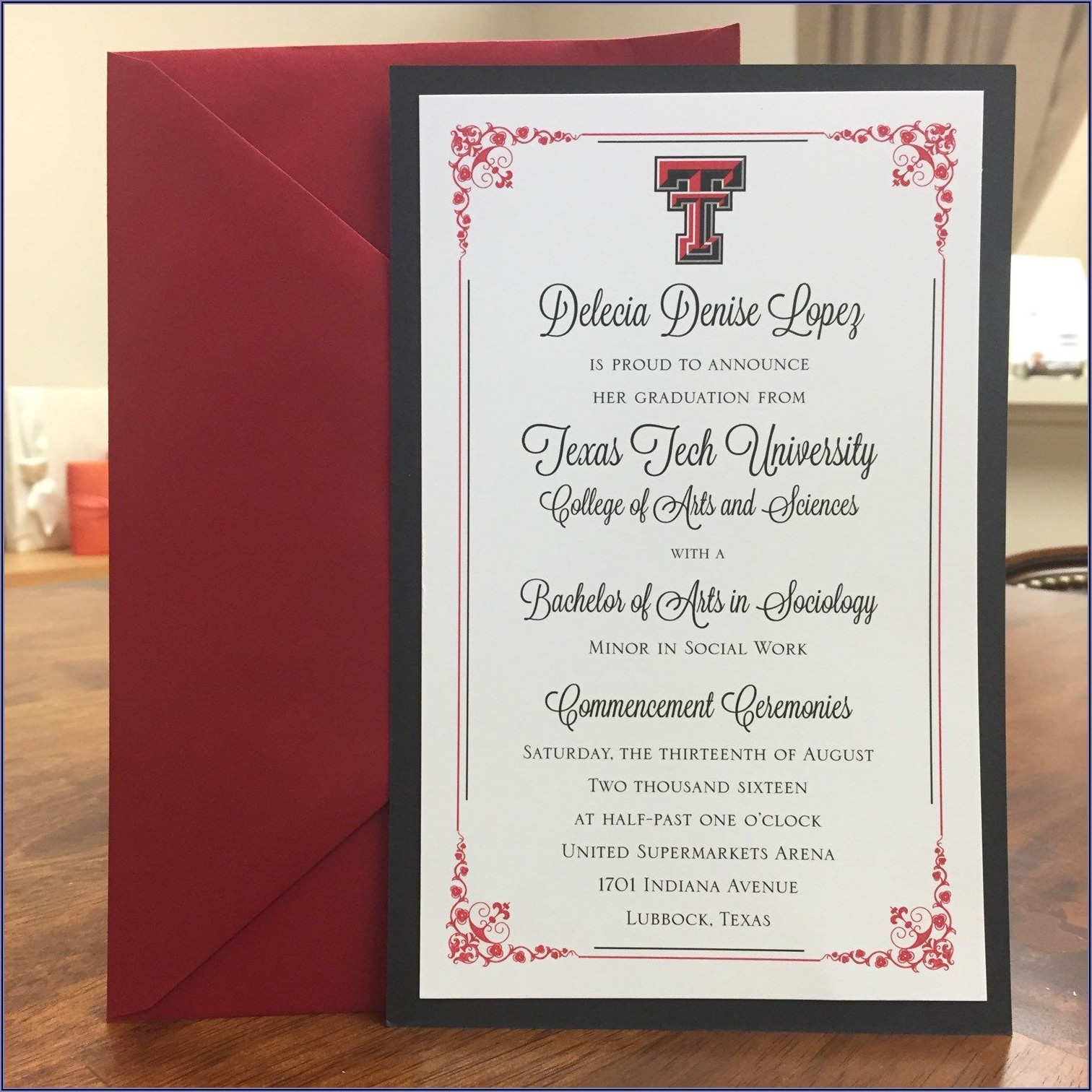 Harvard College Graduation Invitations