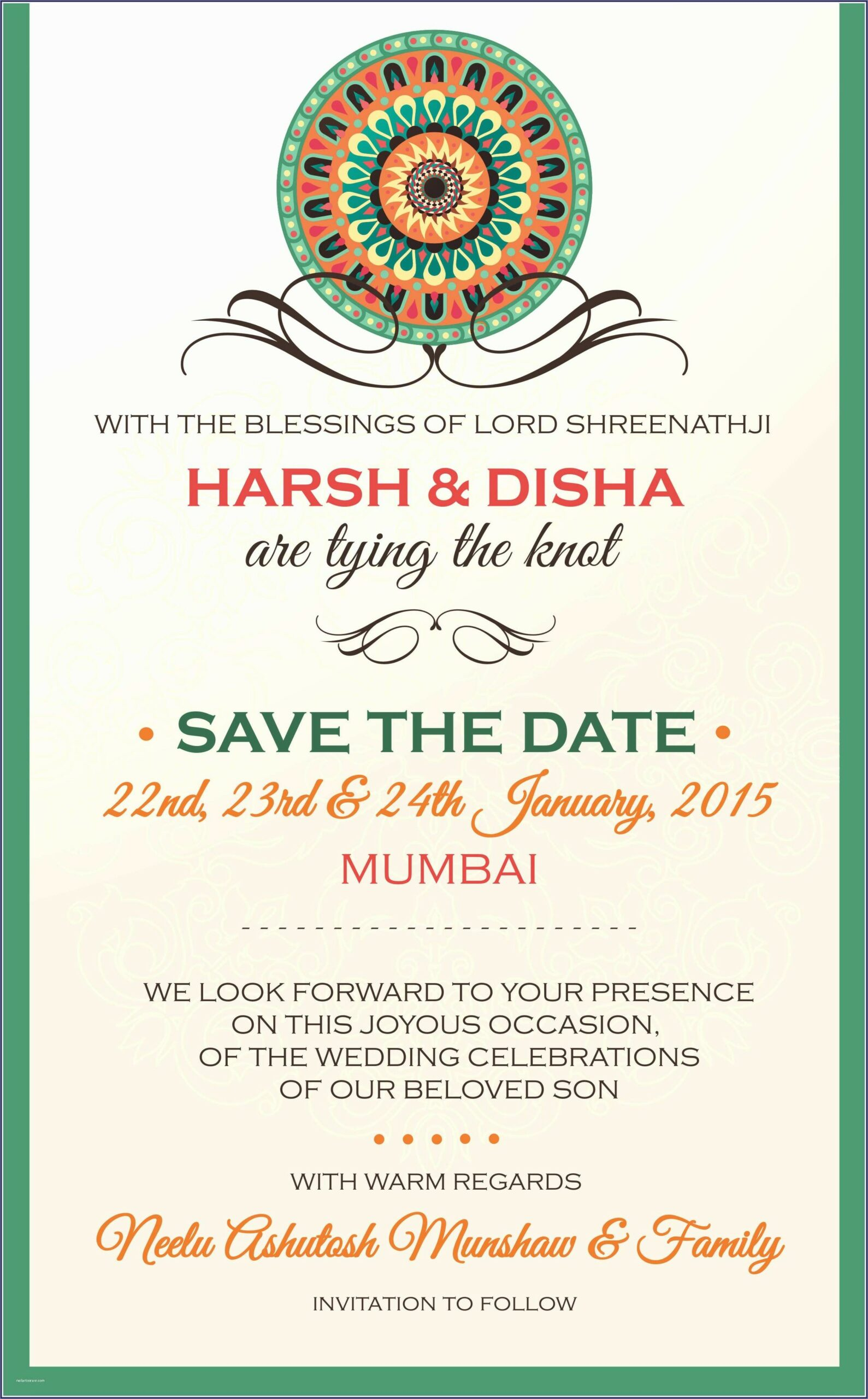 Indian Wedding Invite Template Free