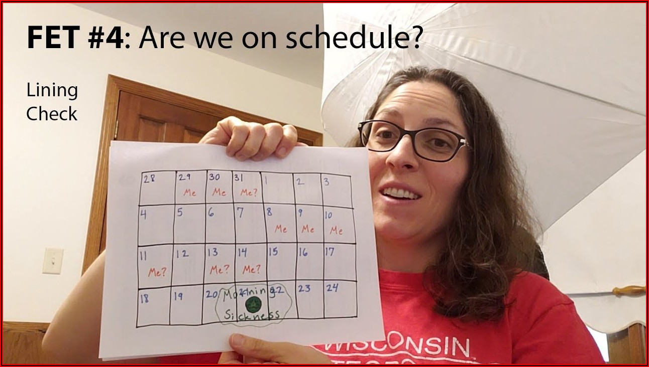 Ivf Frozen Embryo Transfer Calendar