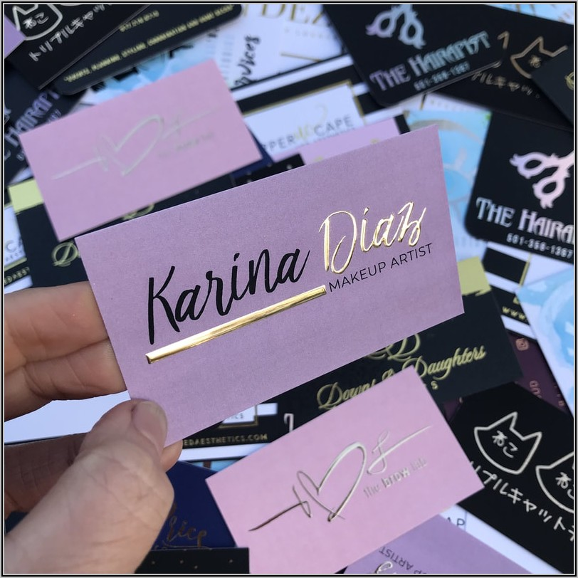Lash Extension Business Card Designs