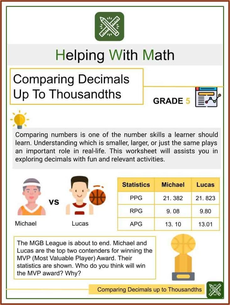 Maths Worksheets Fractions Decimals Percentages