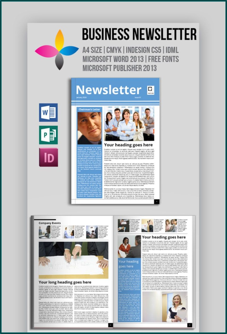 Microsoft Publisher Holiday Newsletter Templates