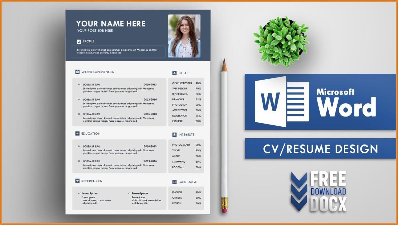 Microsoft Word Free Cv Template