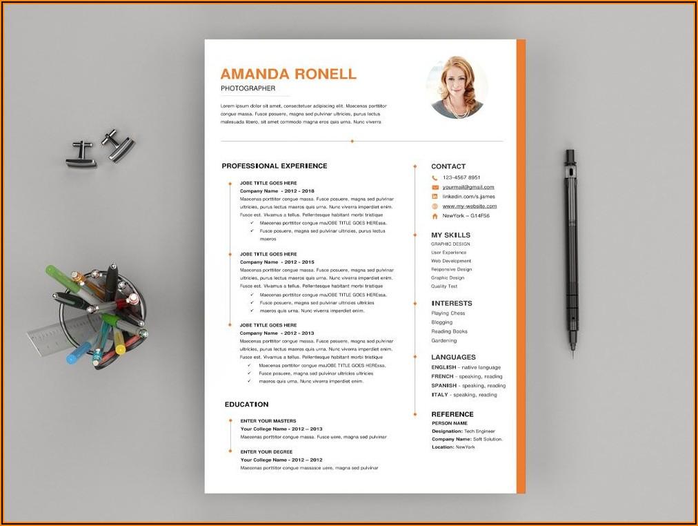Microsoft Word Free Resume Template