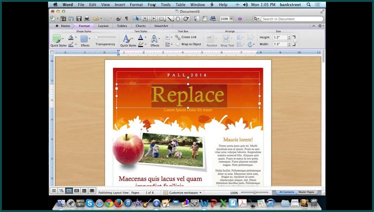 Microsoft Word Newsletter Layout