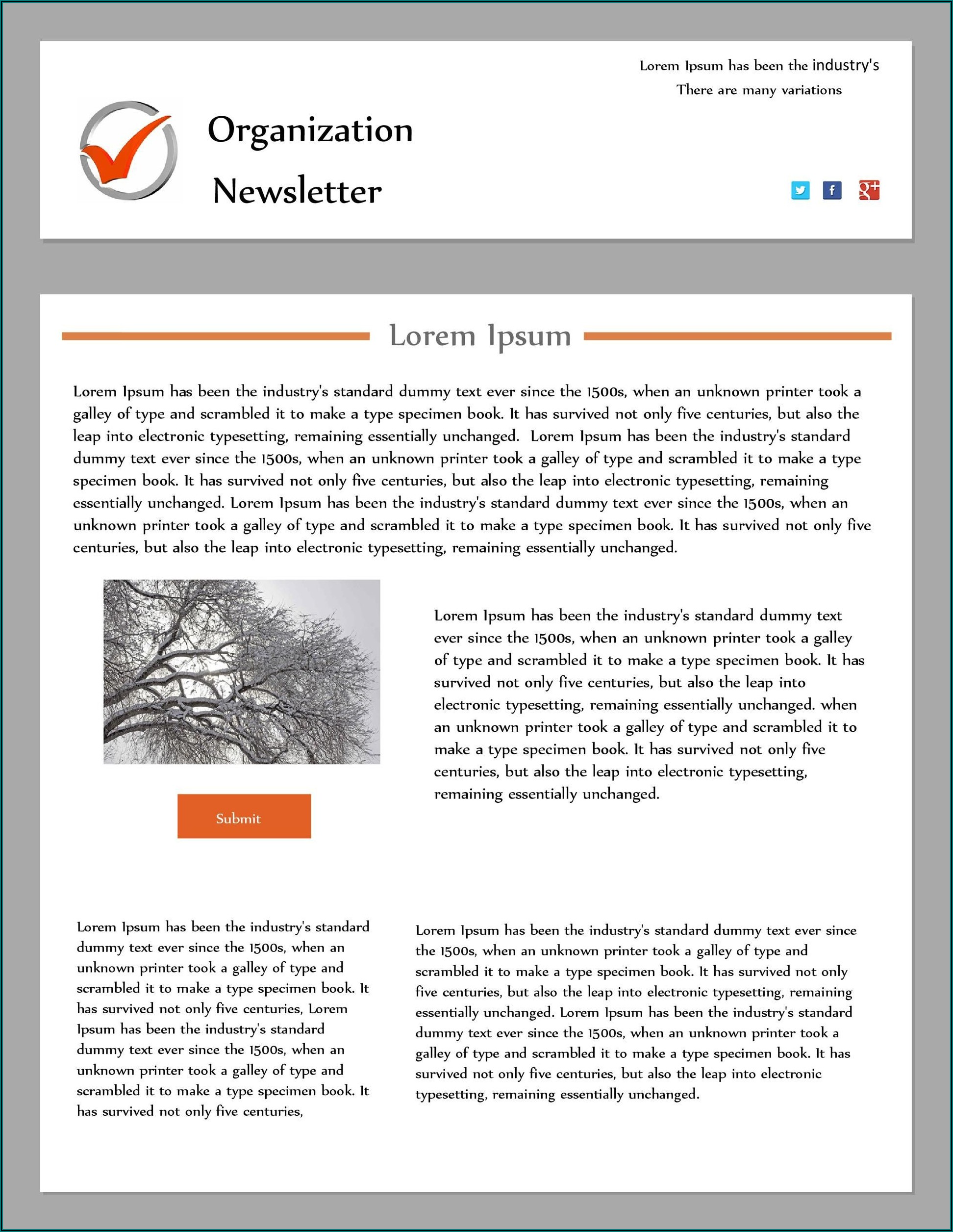 Ms Publisher Newsletter Templates Free