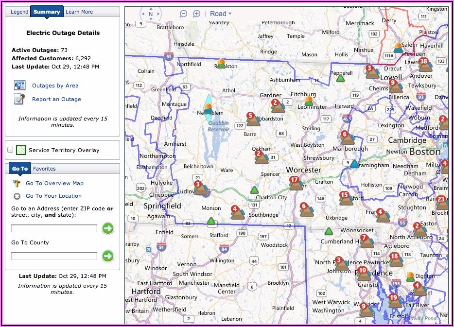 National Grid Power Outage Map Today