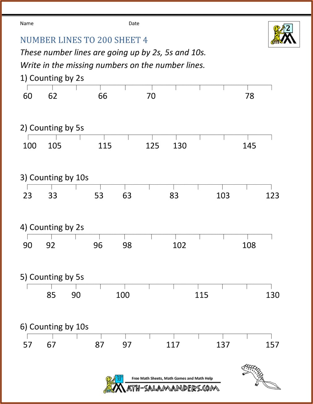Number Pattern Worksheets 6th Grade Pdf
