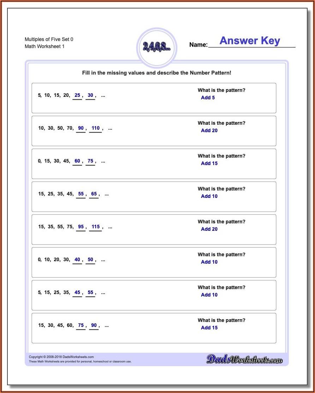 Number Patterns Worksheets Pdf Grade 5