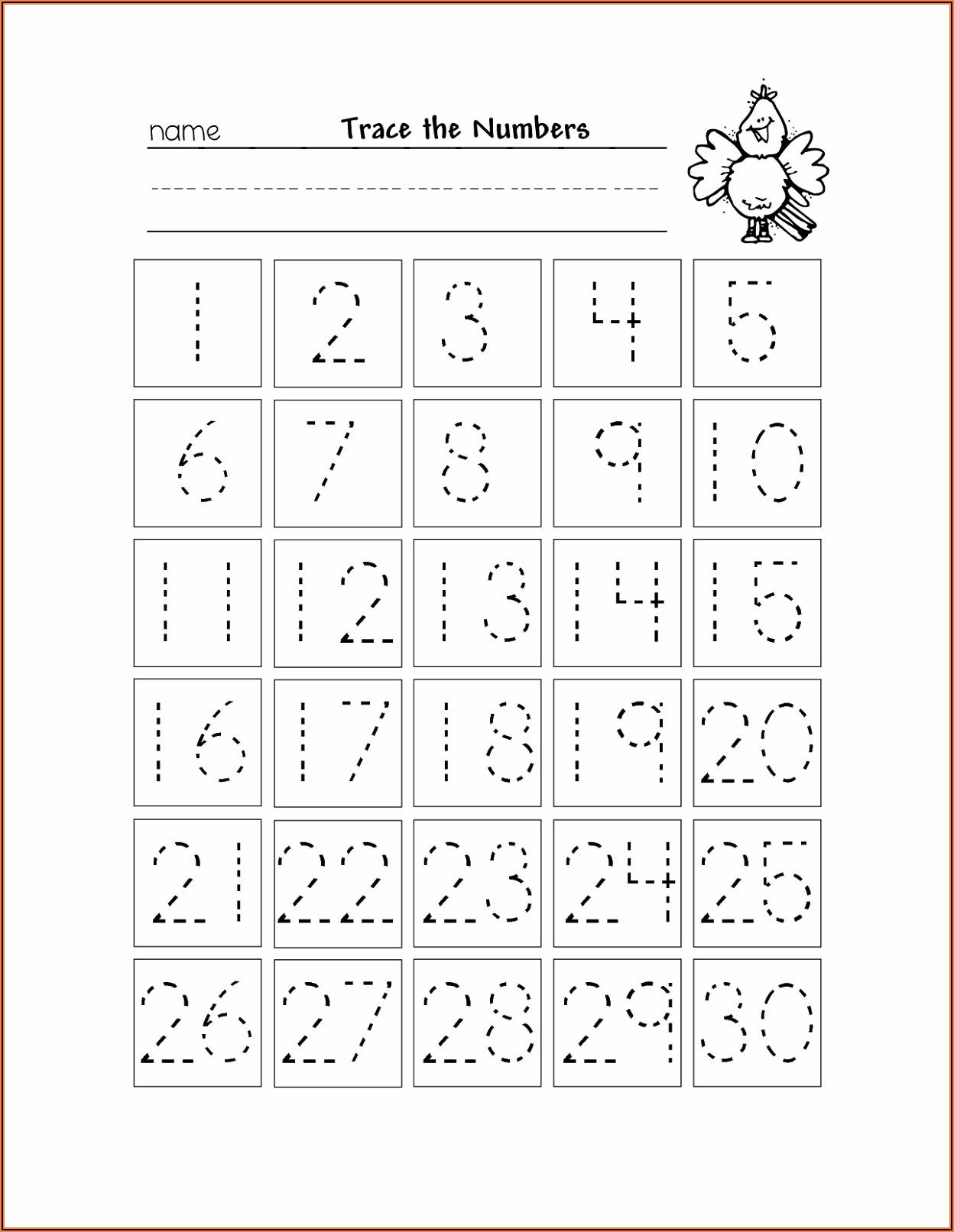 Number Tracing Worksheets 11 20 Pdf