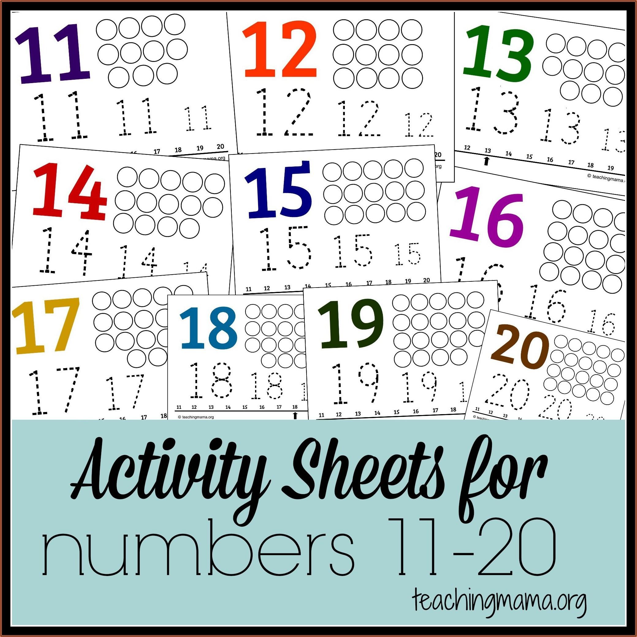 Number Worksheets 11 20 Free