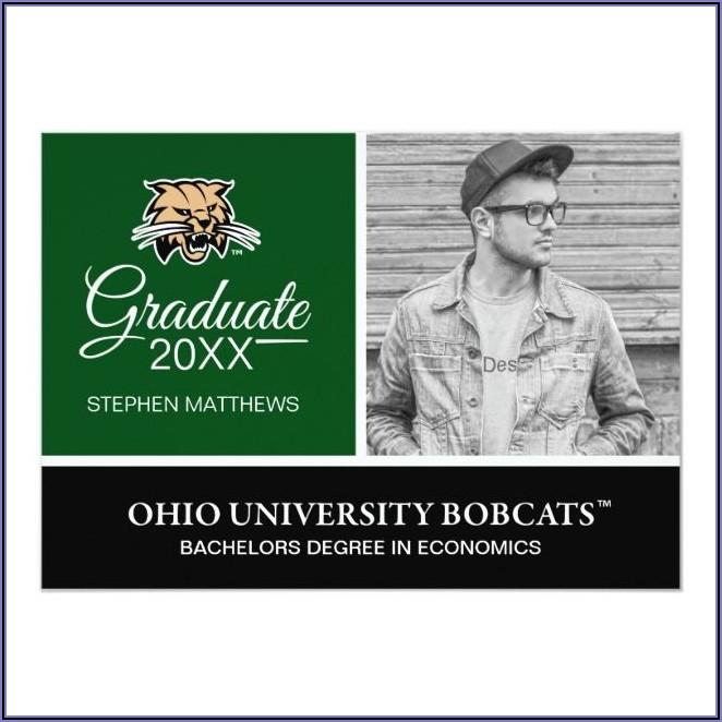 Ohio University Graduation Invitations