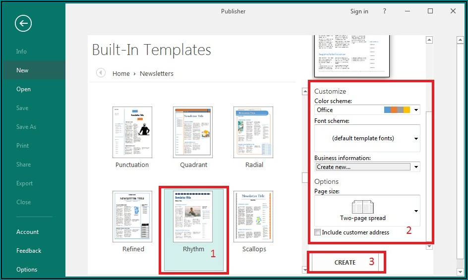One Page Newsletter Template Publisher