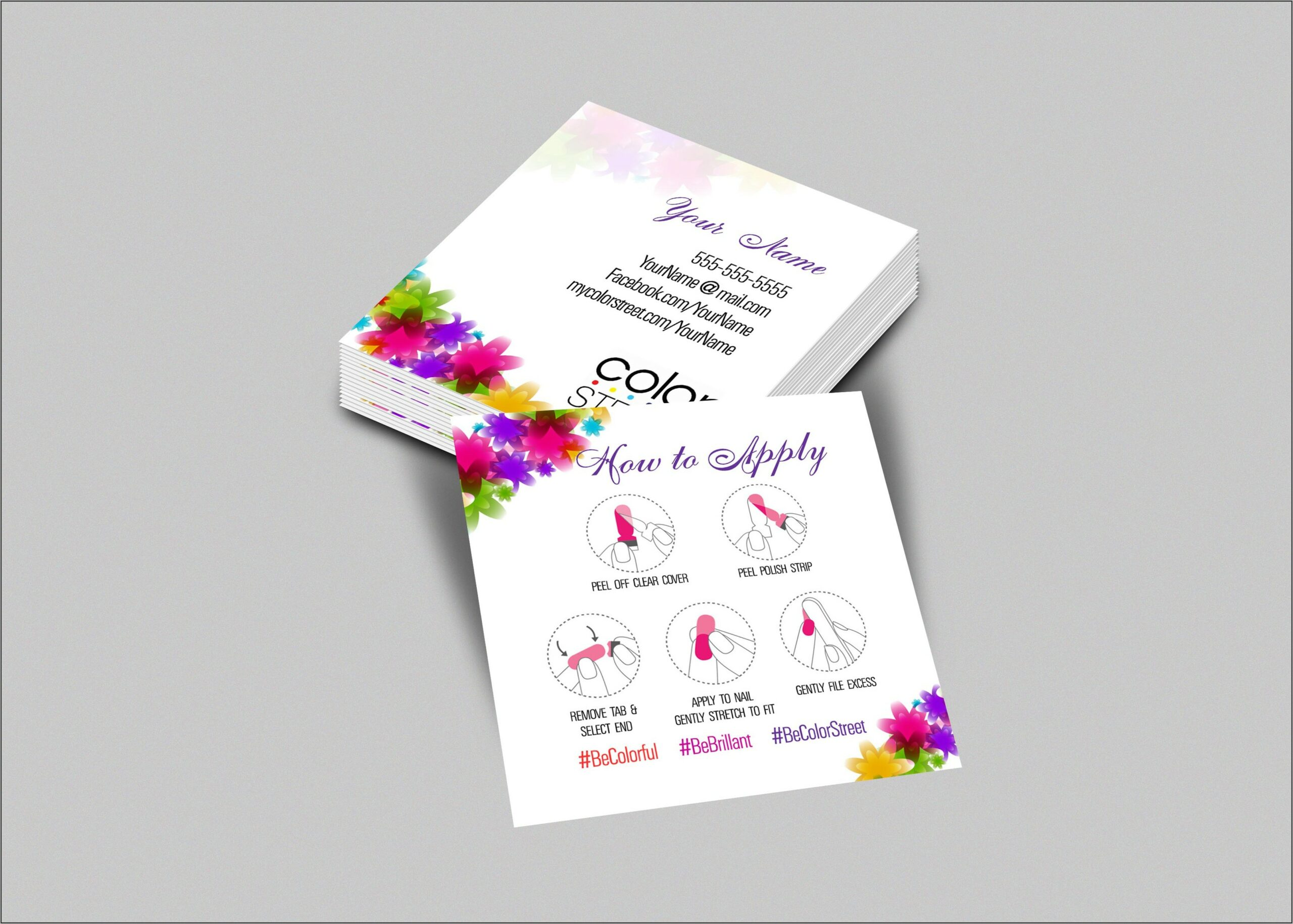 Order Color Street Business Cards