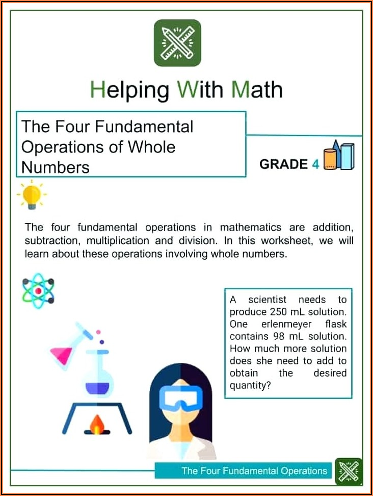 Order Of Operations Activity Worksheets