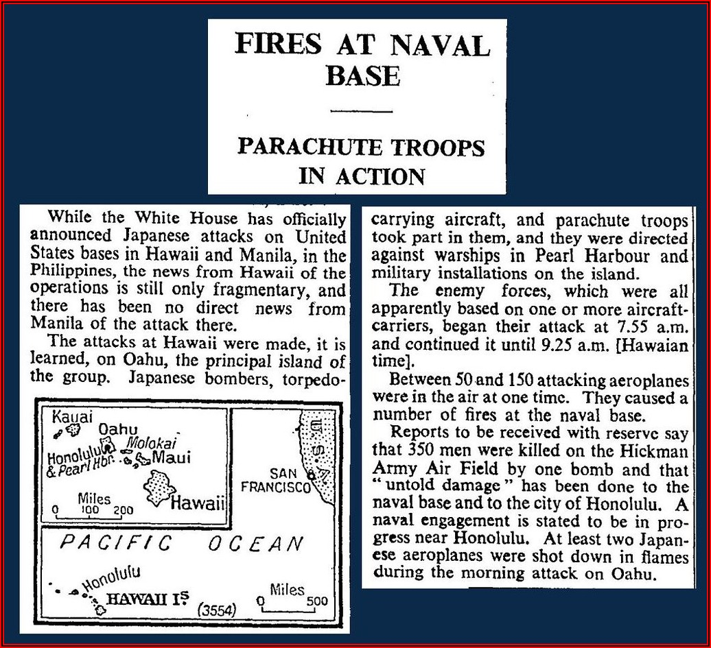 Pearl Harbour Attack Timeline