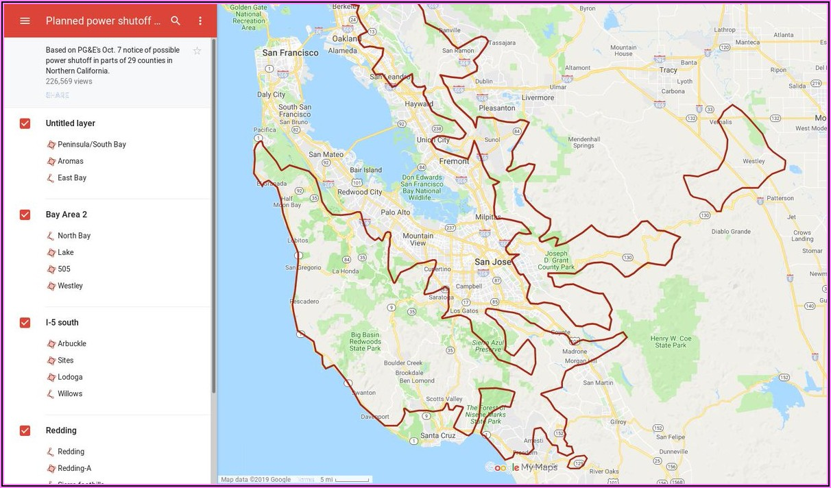 Pge Planned Outage Map San Jose