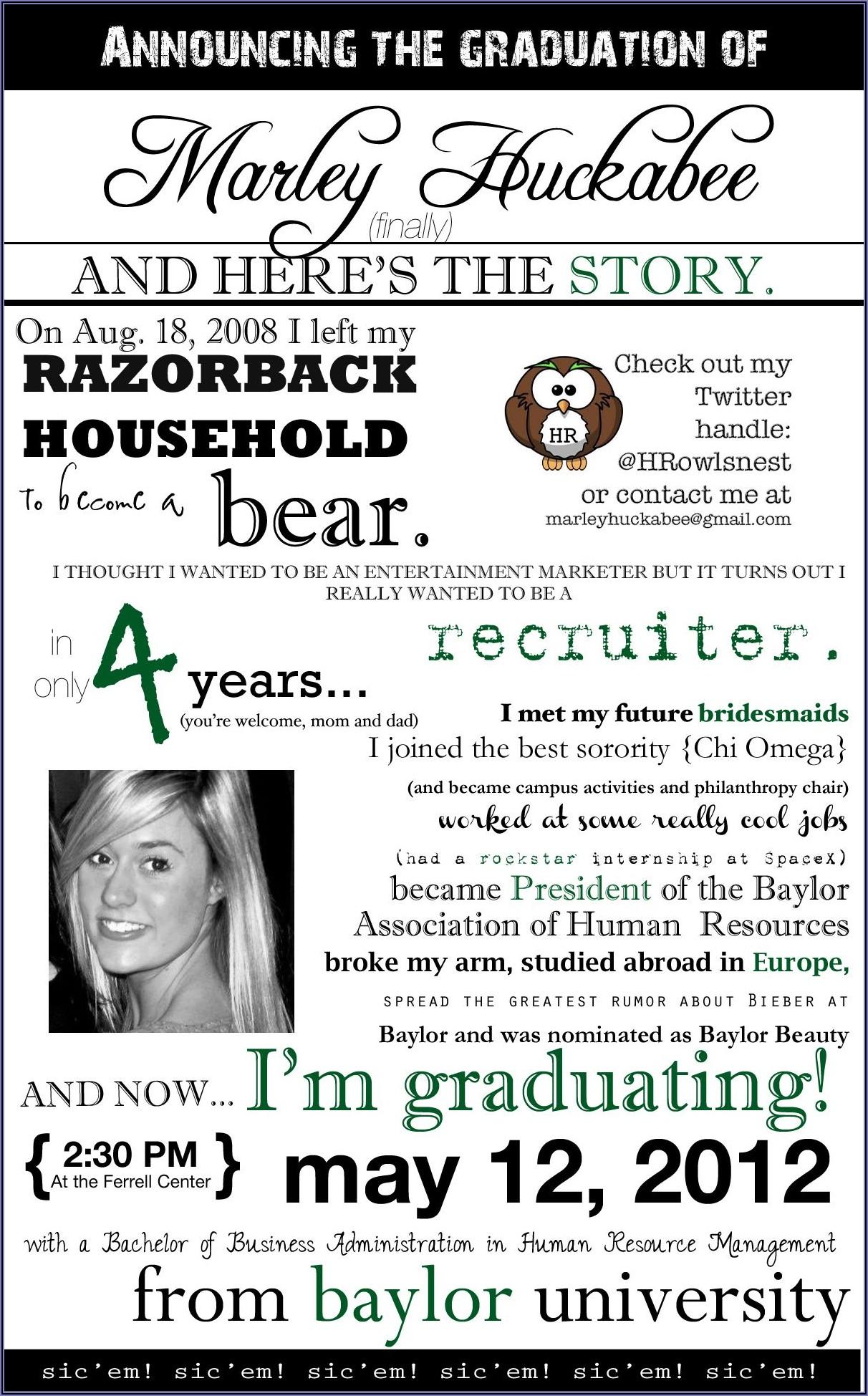 Phd Graduation Announcement Etiquette