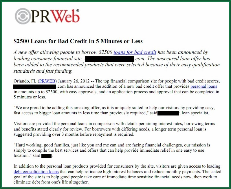 Poorly Written Press Releases Examples
