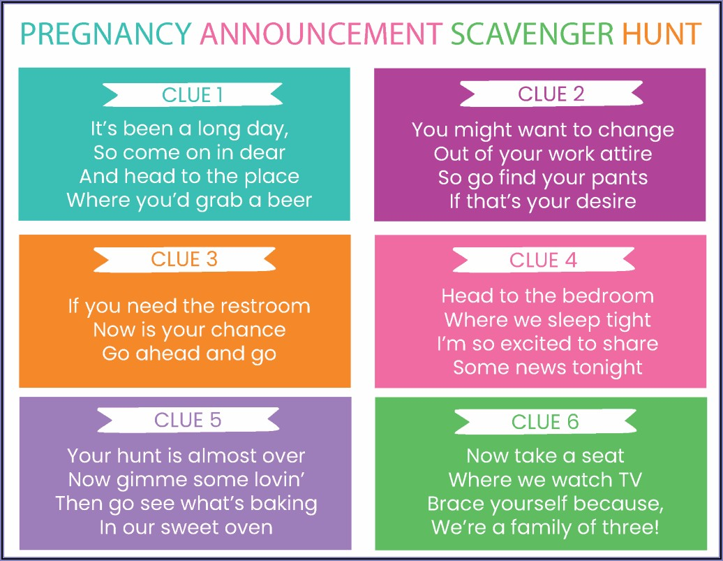 Pregnancy Announcement Wording For Second Child