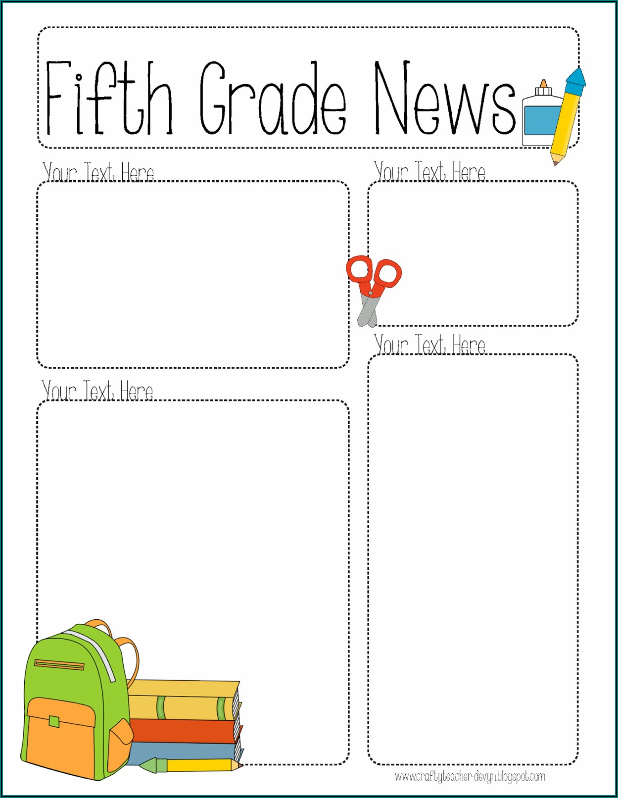 Preschool Newsletter Template Editable