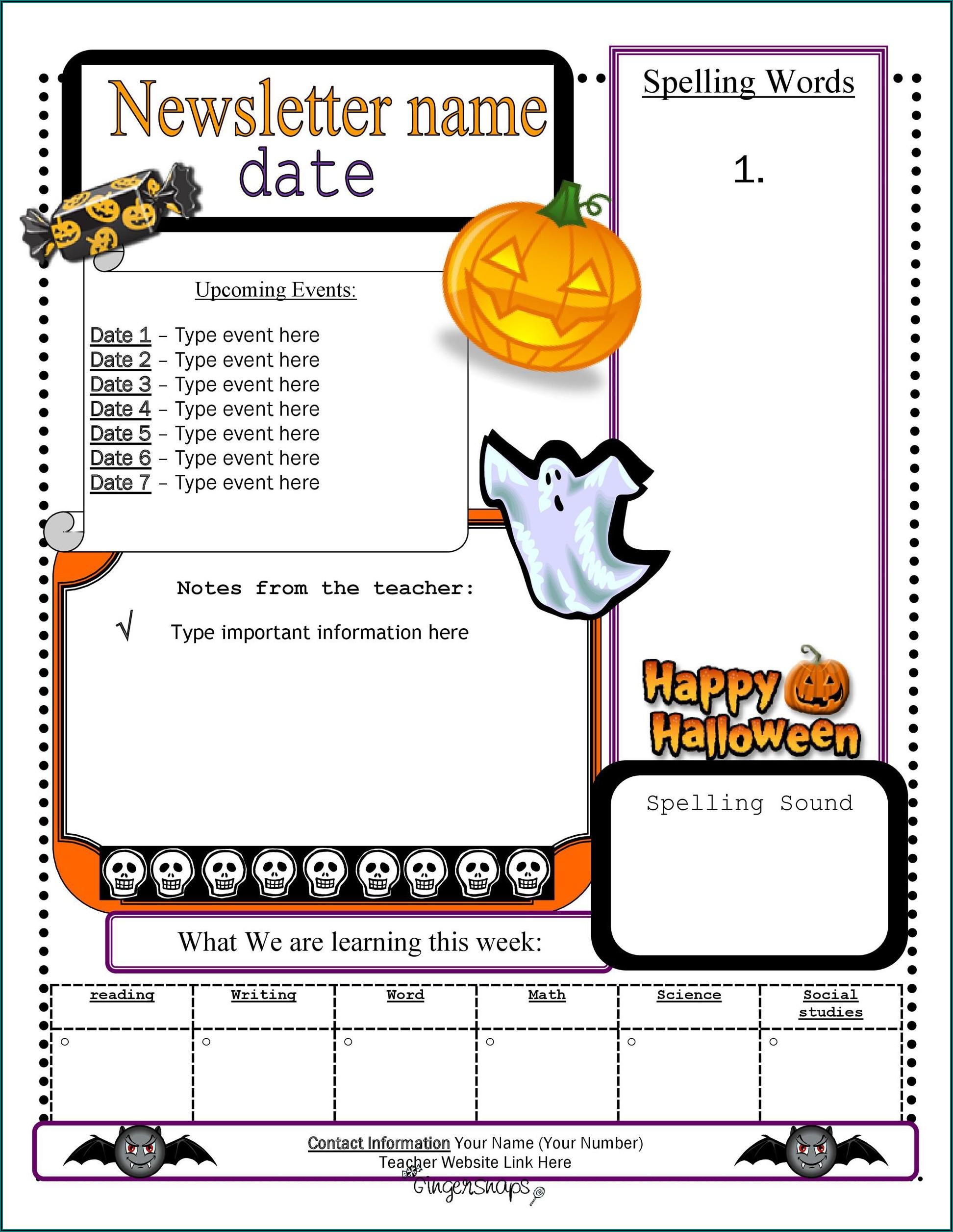 Preschool Newsletter Template Free Download