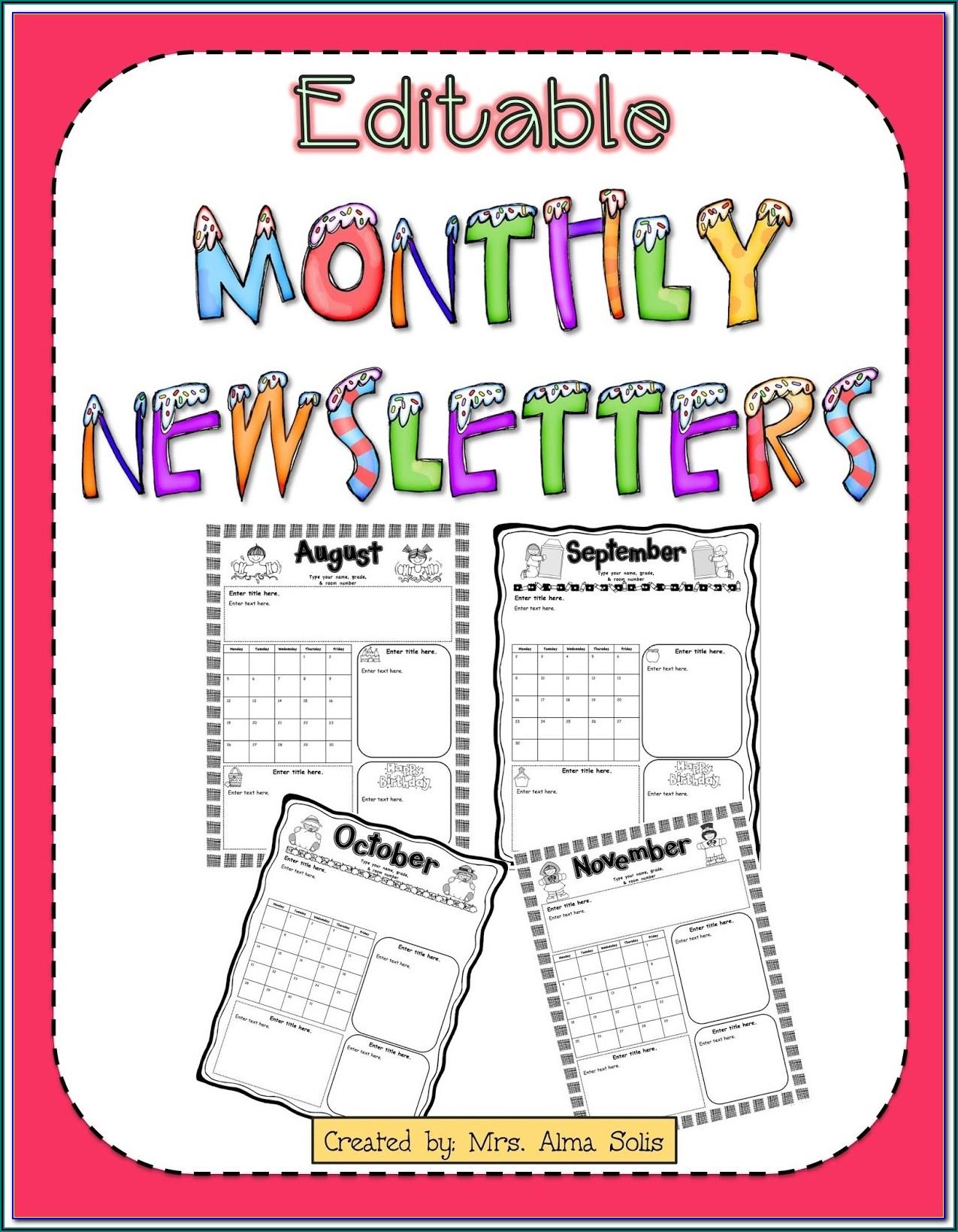 Preschool Newsletter Templates Free Word
