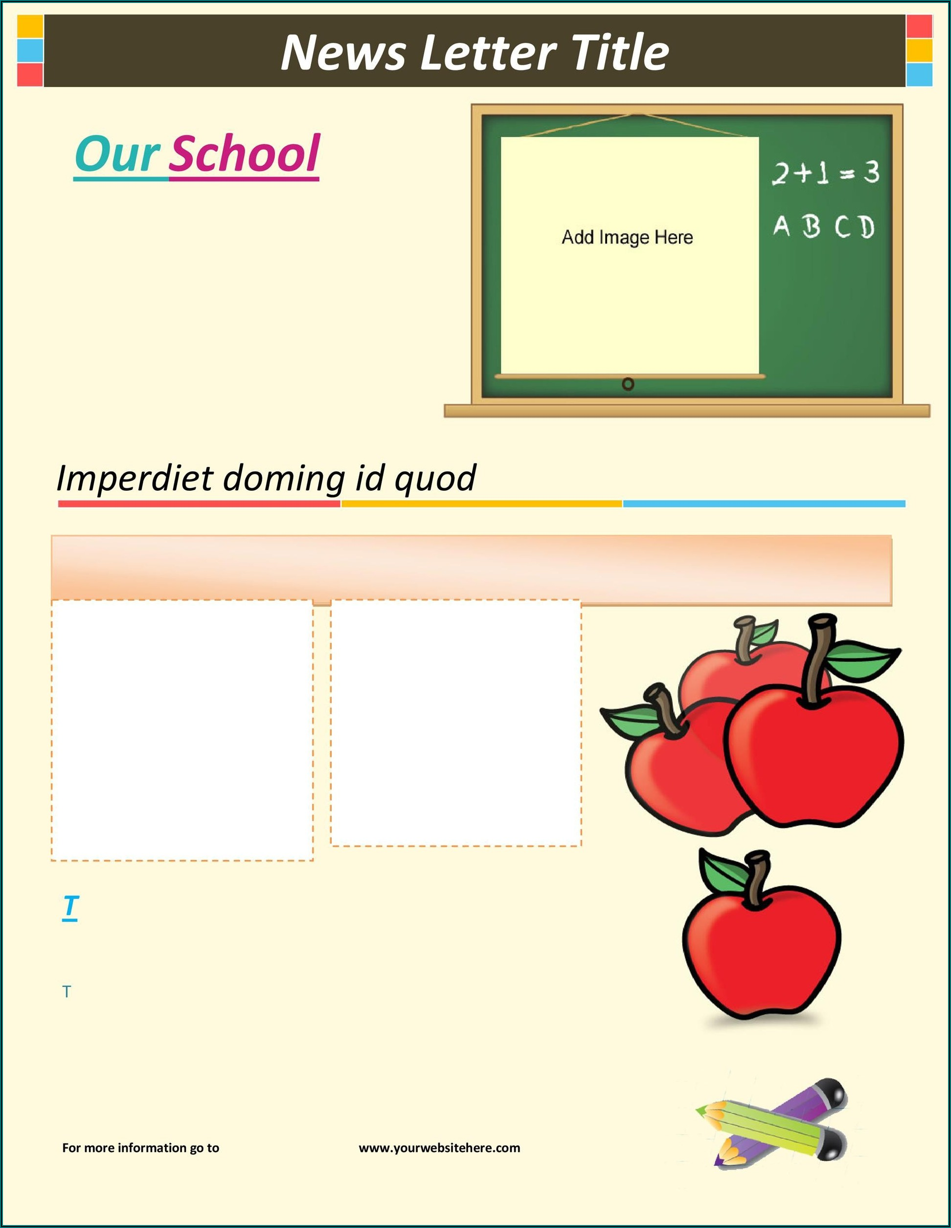 Preschool Printable Newsletter Templates Free