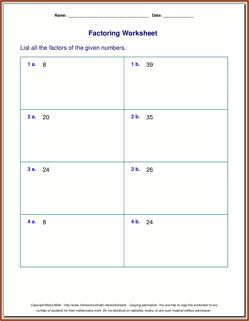 Prime Number Worksheets For Grade 6