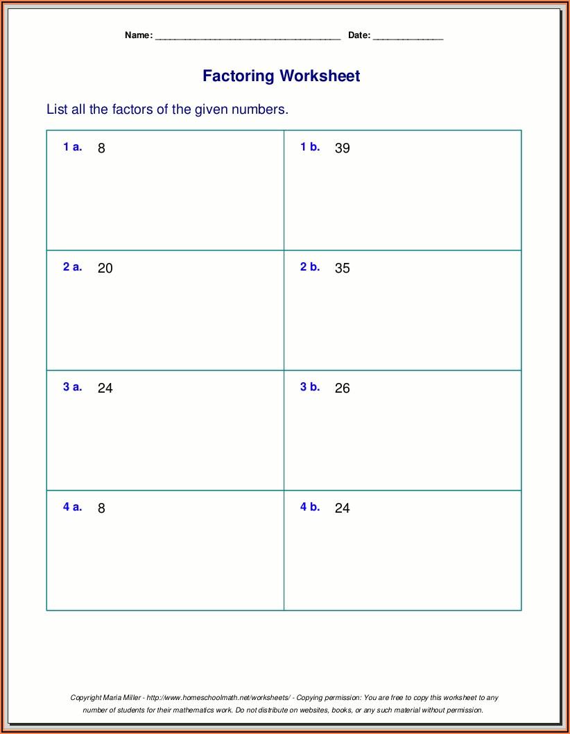 Prime Numbers Worksheet Grade 3