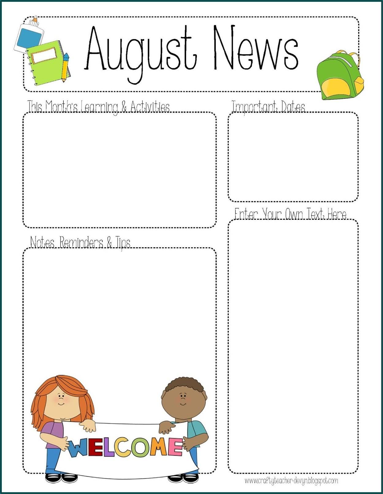 Printable Newsletter Templates Free