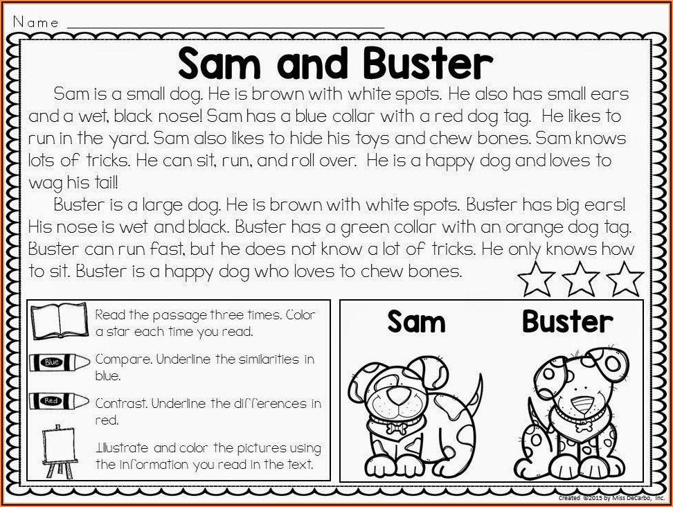 Printable Worksheets For 2nd Grade Reading Comprehension