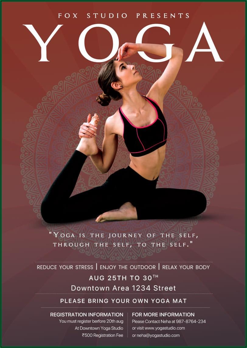 Printable Yoga Flyer Template Free