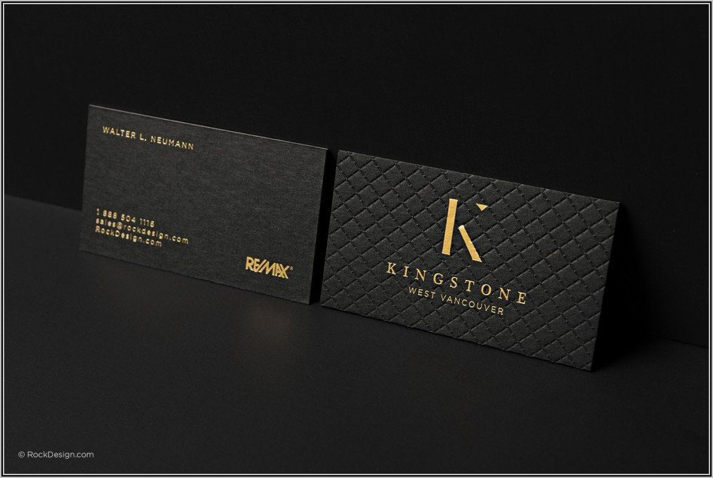 Remax Silver Foil Business Cards