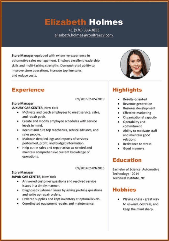 Resume Example Word Download