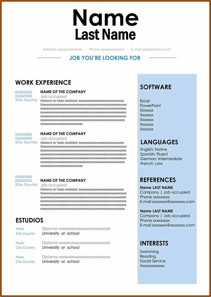 Resume Sample Word Document