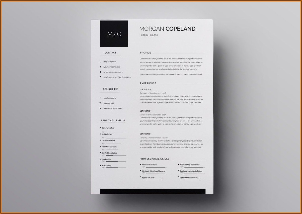 Resume Template For Pages Mac Free