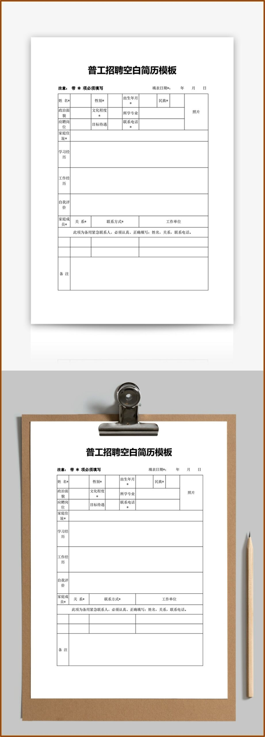 Resume Template Free Download Word File