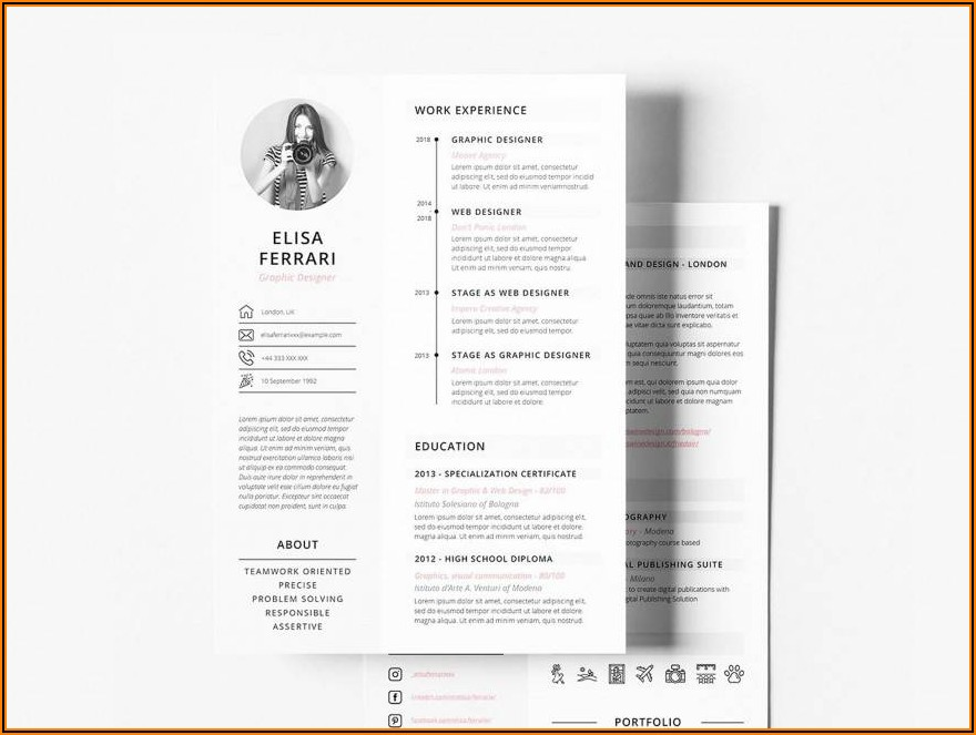 Resume Templates For Apple Pages Free