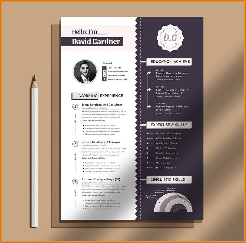 Resume Templates For Apple Pages