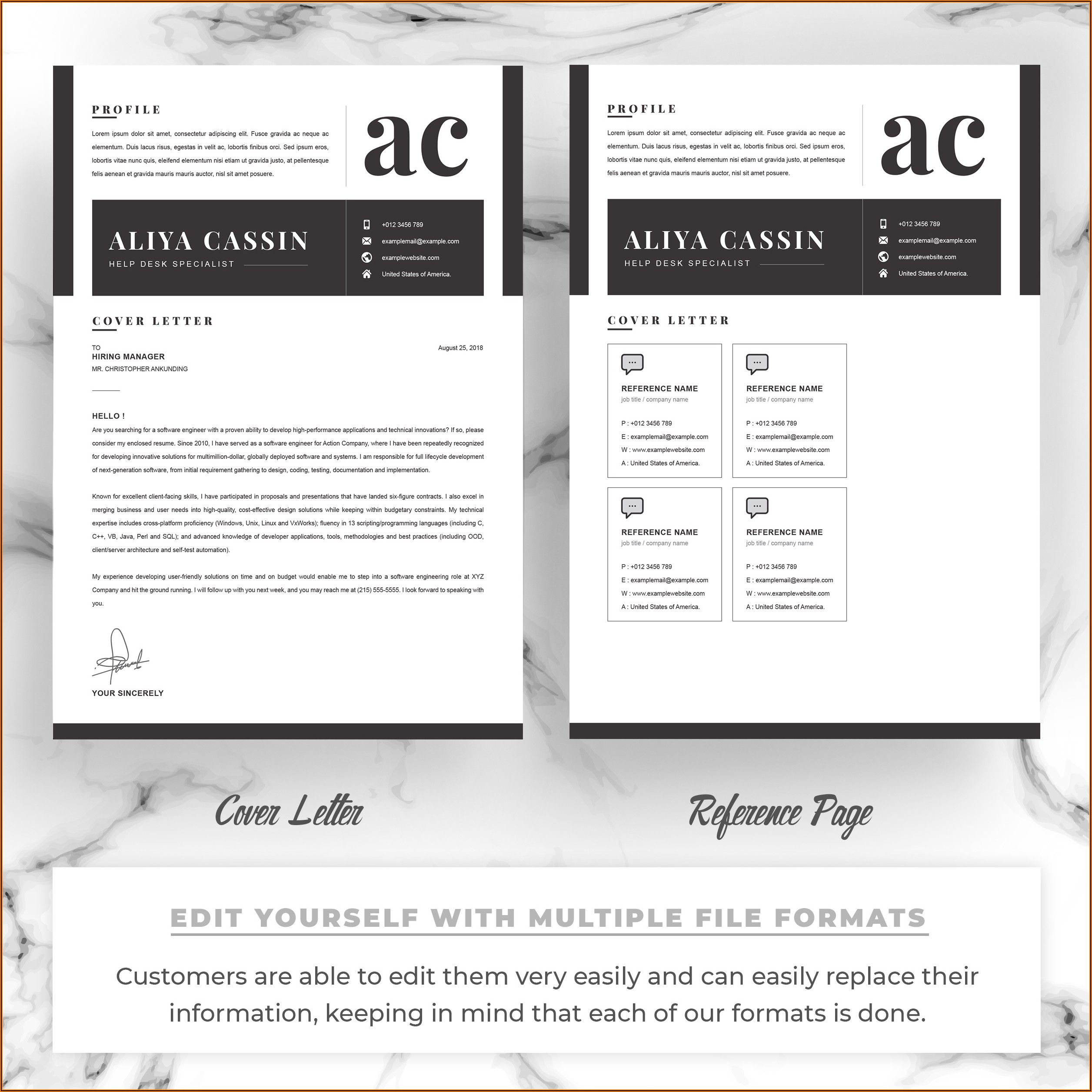 Resume Templates For Mac Pages Free