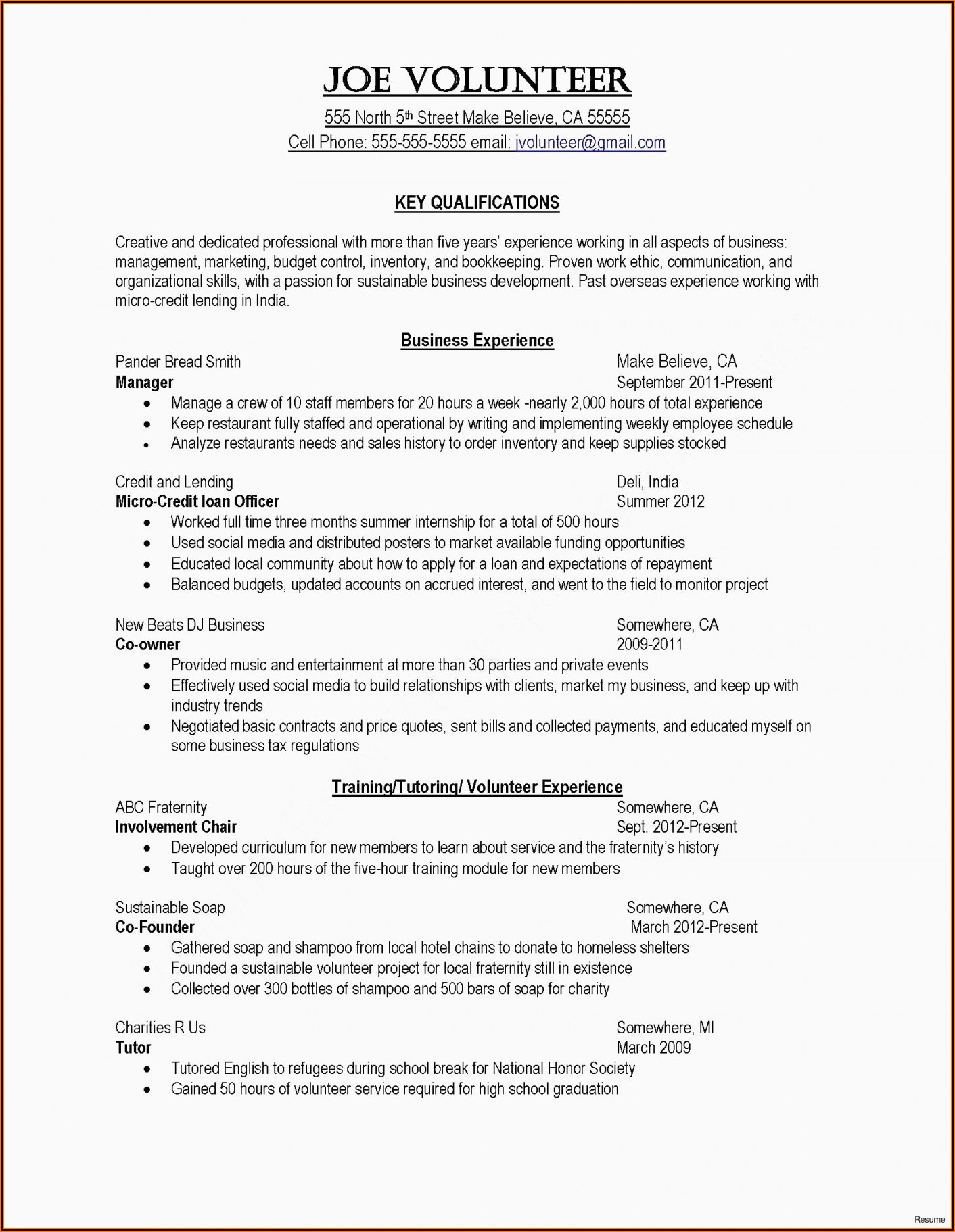 Resume Templates For Word 2019