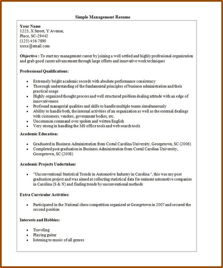 Resume Templates Word 2016 Free Download
