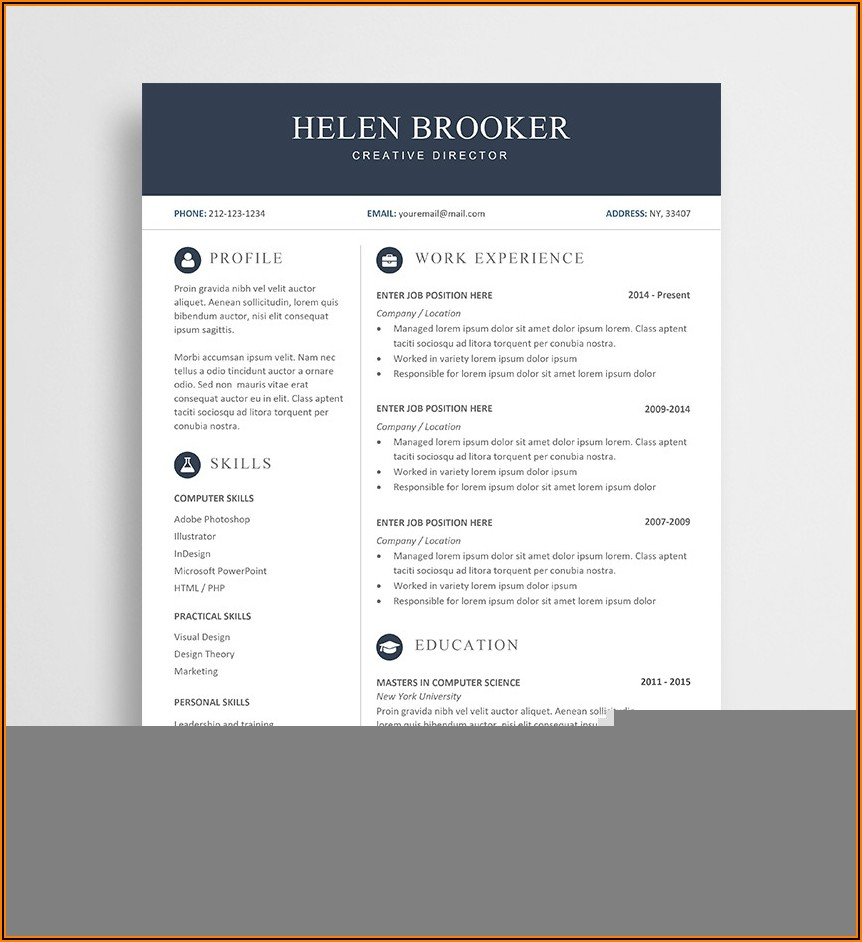 Resume Templates Word Document Free Download