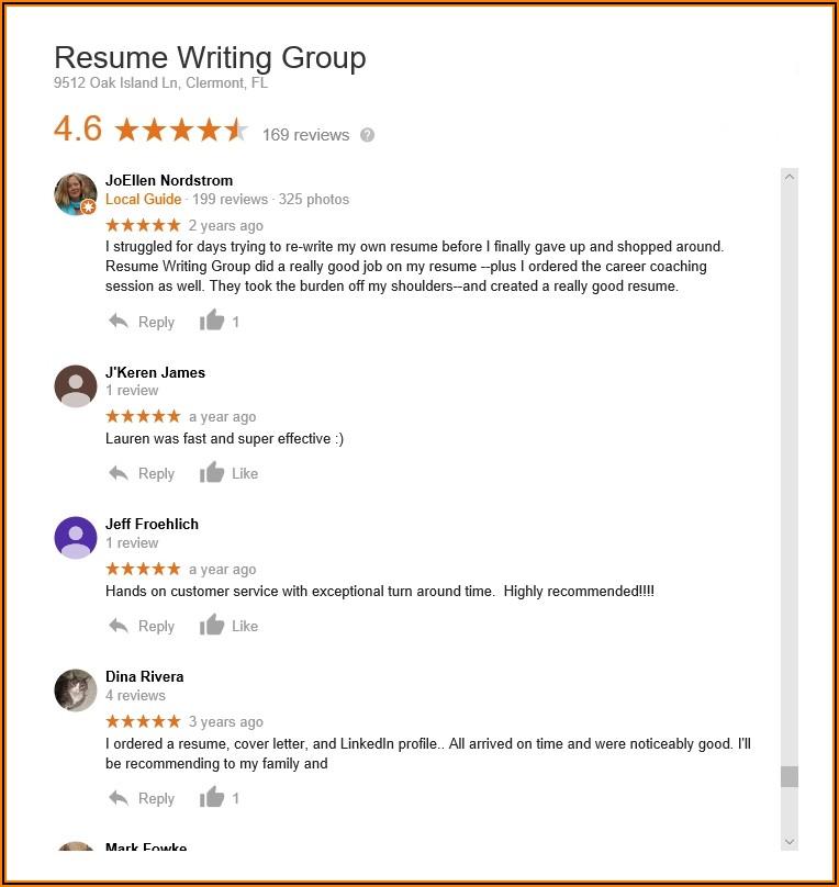 Resume Writing Company Reviews