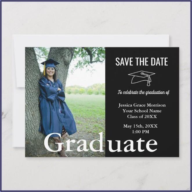 Save The Date Graduation Announcements