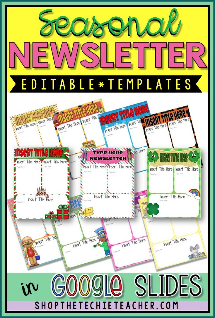 School Counselor Newsletter Template Free